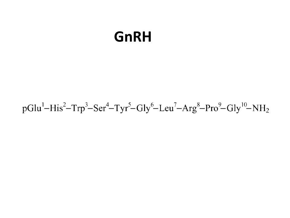 Lormone che induce il rilascio delle gonadotropine (GnRH) è il principale regolatore della cascata ormonale coivolta nella riproduzione ed è stato isolato dallarea preottica dell ipotalamo di mammiferi.