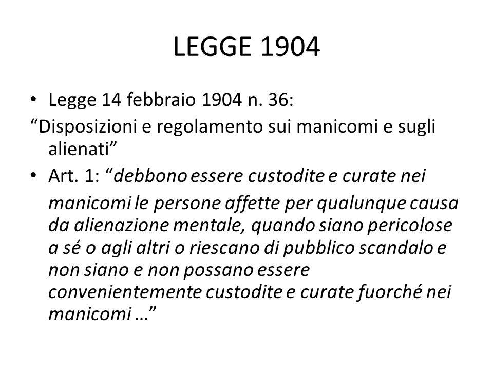 LEGGE 1904 Legge 14 febbraio 1904 n.