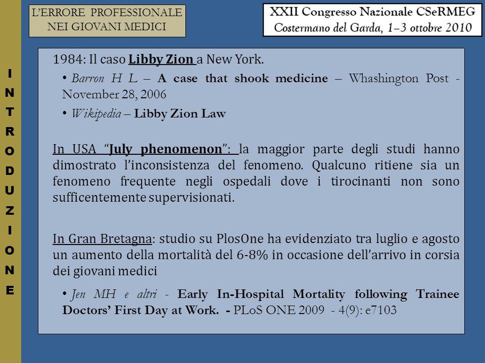 LERRORE PROFESSIONALE NEI GIOVANI MEDICI ERRORI PER FACILITARE LANALISI DEI DATI TUTTI GLI ERRORI ANALIZZATI NEL QUESTIONARIO SONO STATI DIVISI IN TRE GRUPPI: ERRORI DI TIPO TECNICO Valutazione clinica Prescrizione Somministrazione del farmaco Organizzazione del lavoro ERRORI DI TIPO RELAZIONALE Comunicazione con il paziente Rapporto con i colleghi ERRORI DI TIPO ETICO-DEONTOLOGICO