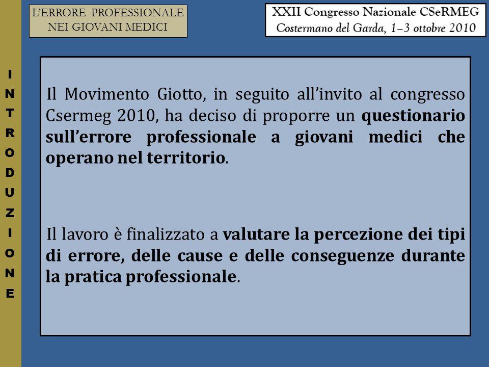 LERRORE PROFESSIONALE NEI GIOVANI MEDICI CONSEGUENZE - 2