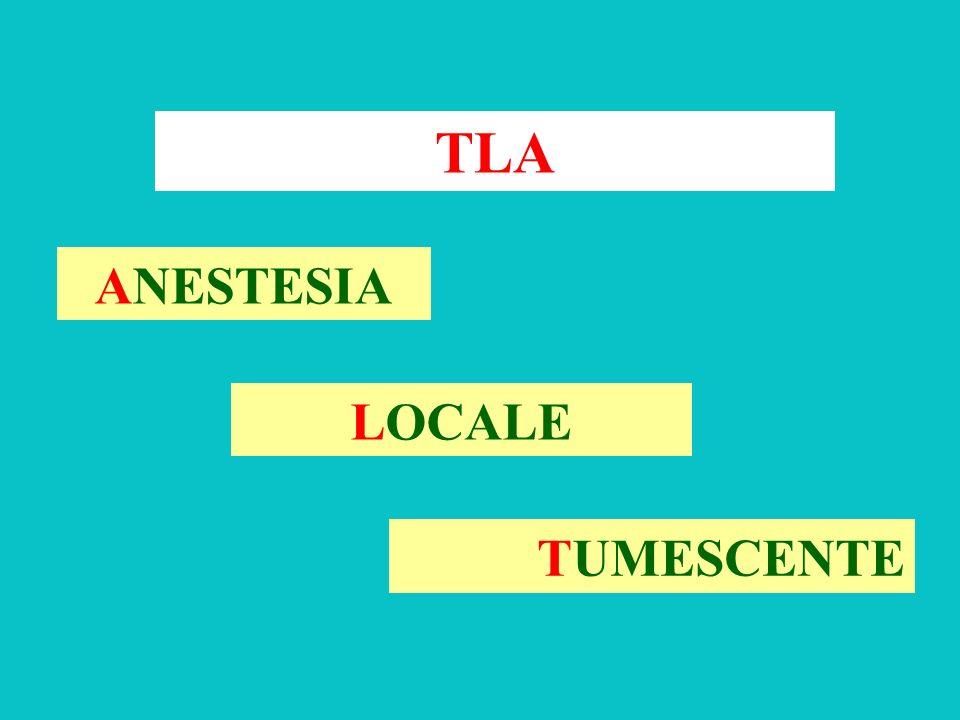 TLA ANESTESIA LOCALE TUMESCENTE