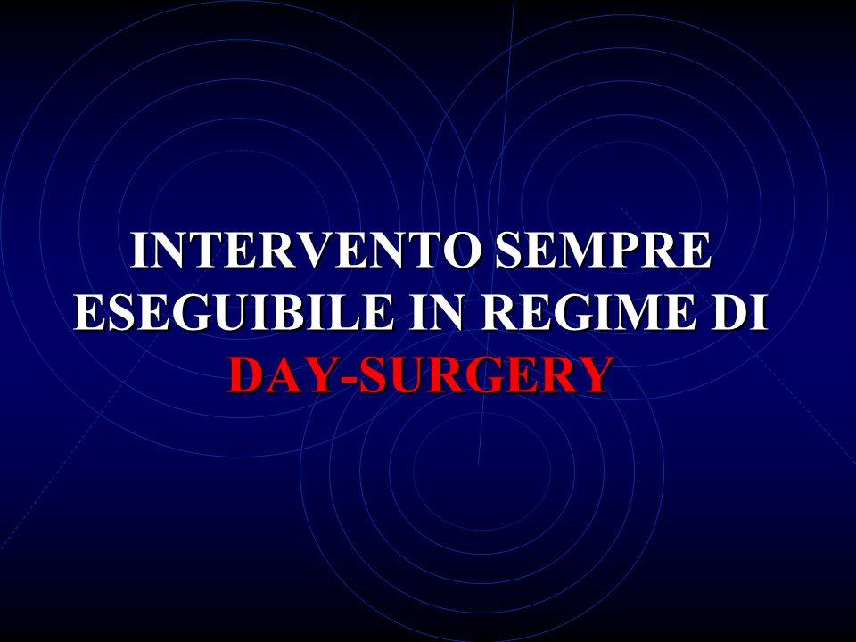 INTERVENTO SEMPRE ESEGUIBILE IN REGIME DI DAY-SURGERY
