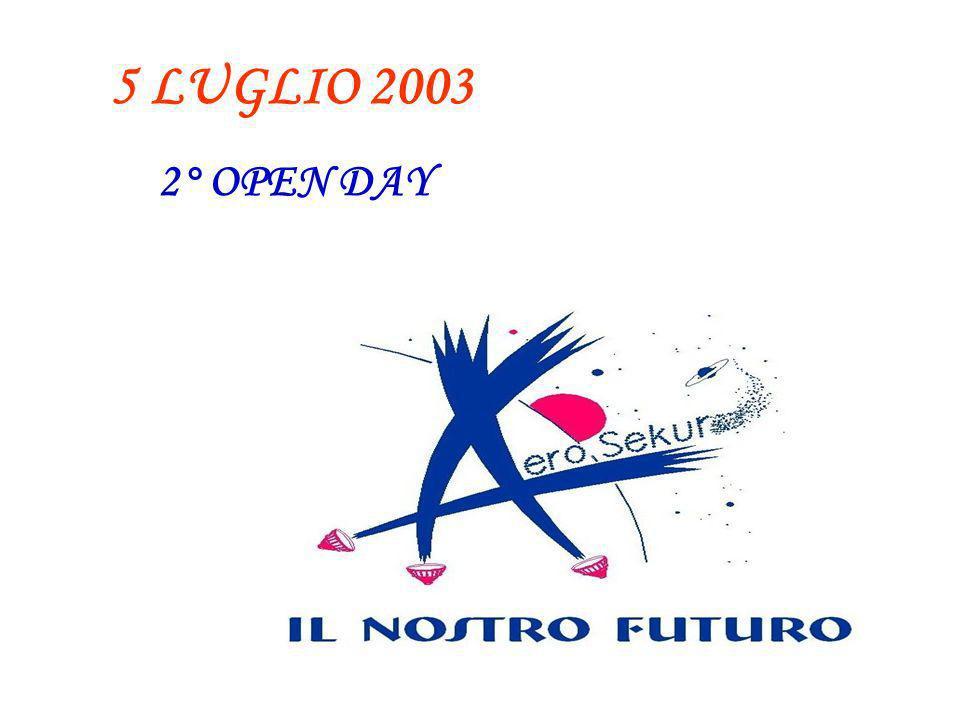 5 LUGLIO 2003 2° OPEN DAY