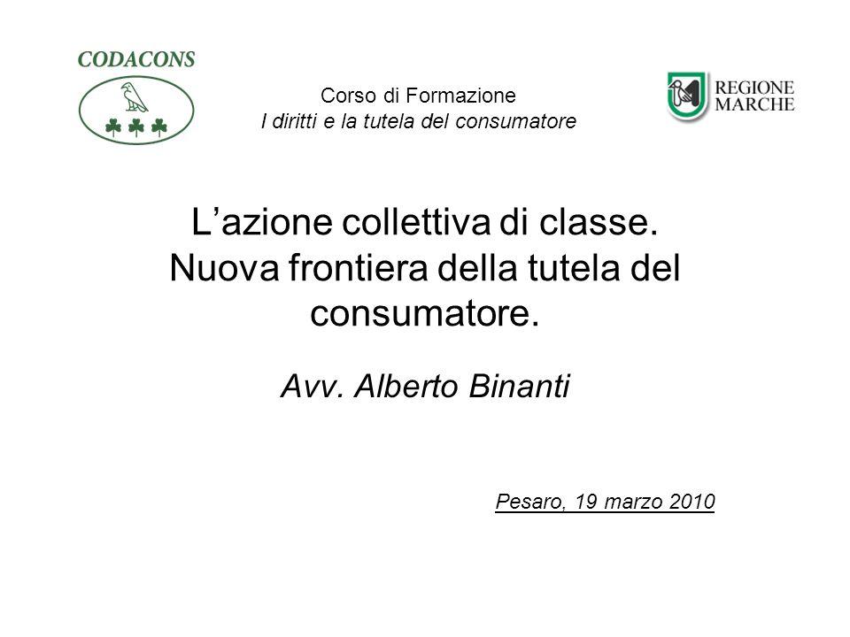 Azione di classe Lart.140 bis del Codice del Consumo (D.lgs.