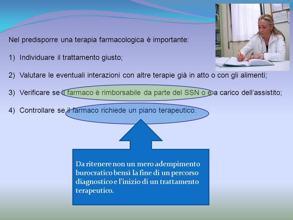 ll farmaco richiede un piano terapeutico.