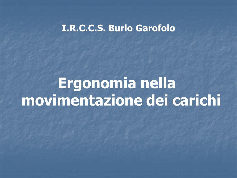I.R.C.C.S. Burlo Garofolo Ergonomia nella movimentazione dei carichi