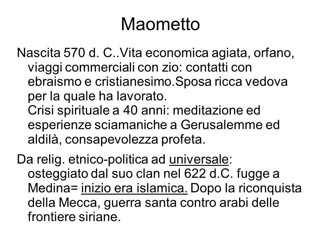 Maometto Nascita 570 d.