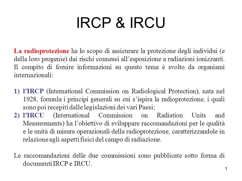 2 Grandezze radioprotezionistiche ed operative 1.grandezze radio protezionistiche, definite dallICRP, non sono direttamente misurabili, ma riferibili a calcoli se le condizioni di irradiazione sono note.