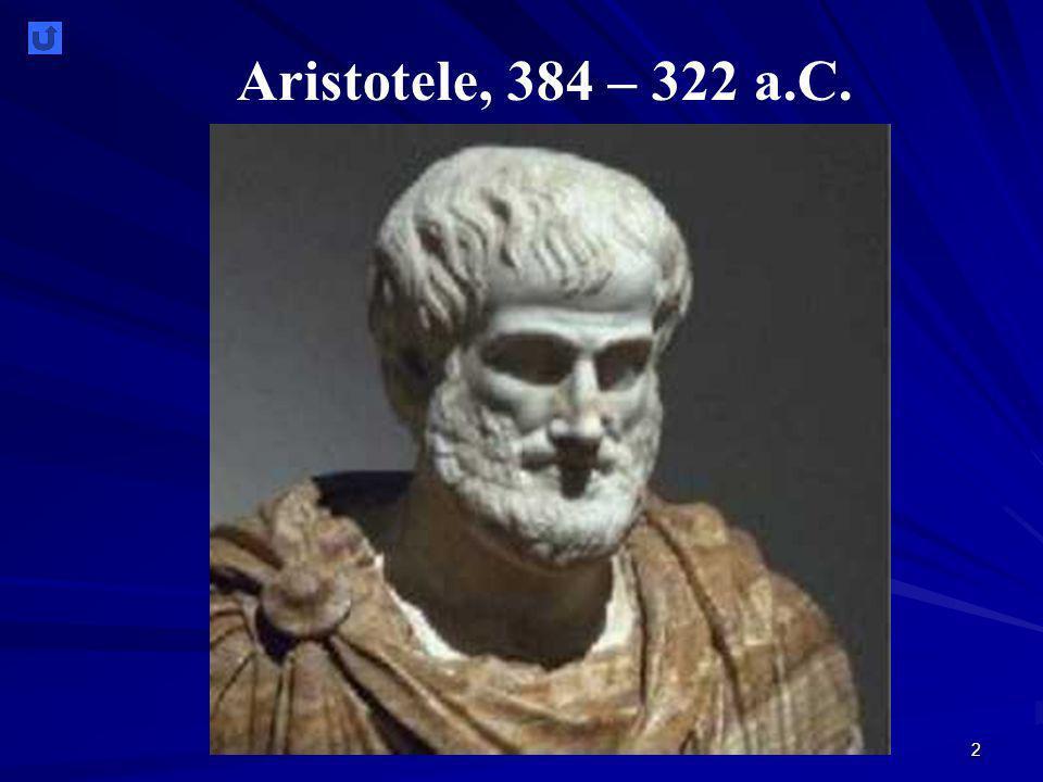 2 Aristotele, 384 – 322 a.C.