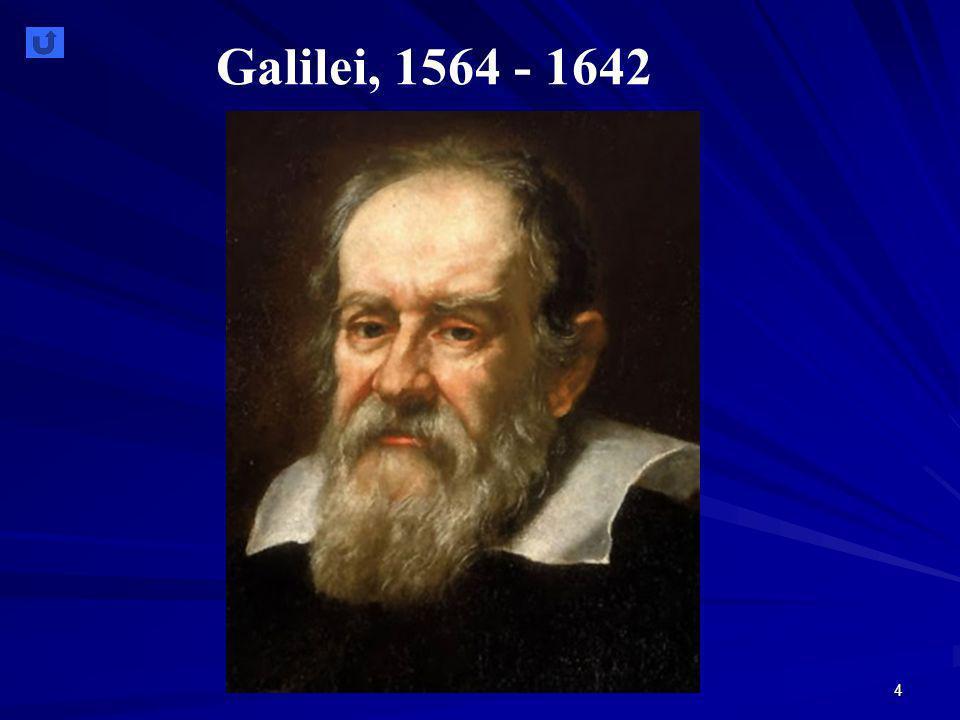 4 Galilei, 1564 - 1642