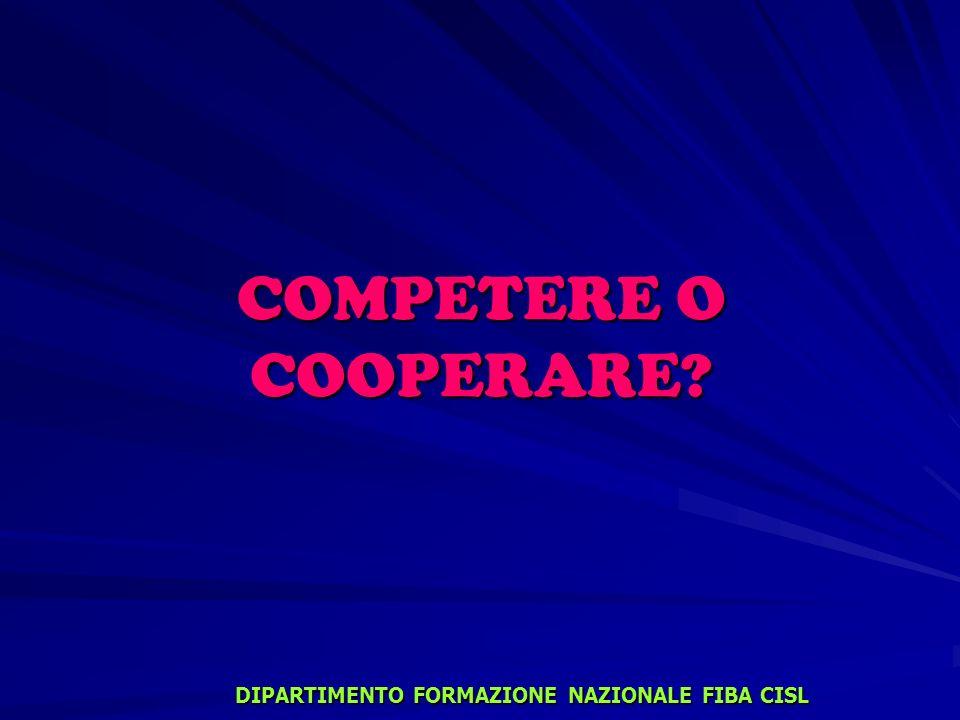 COMPETERE O COOPERARE? DIPARTIMENTO FORMAZIONE NAZIONALE FIBA CISL