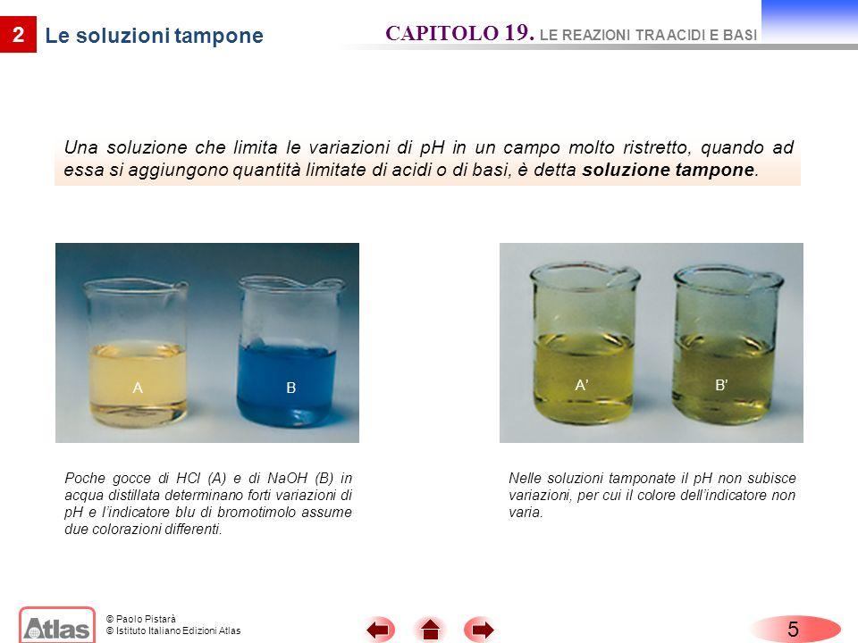 © Paolo Pistarà © Istituto Italiano Edizioni Atlas Una soluzione che limita le variazioni di pH in un campo molto ristretto, quando ad essa si aggiung