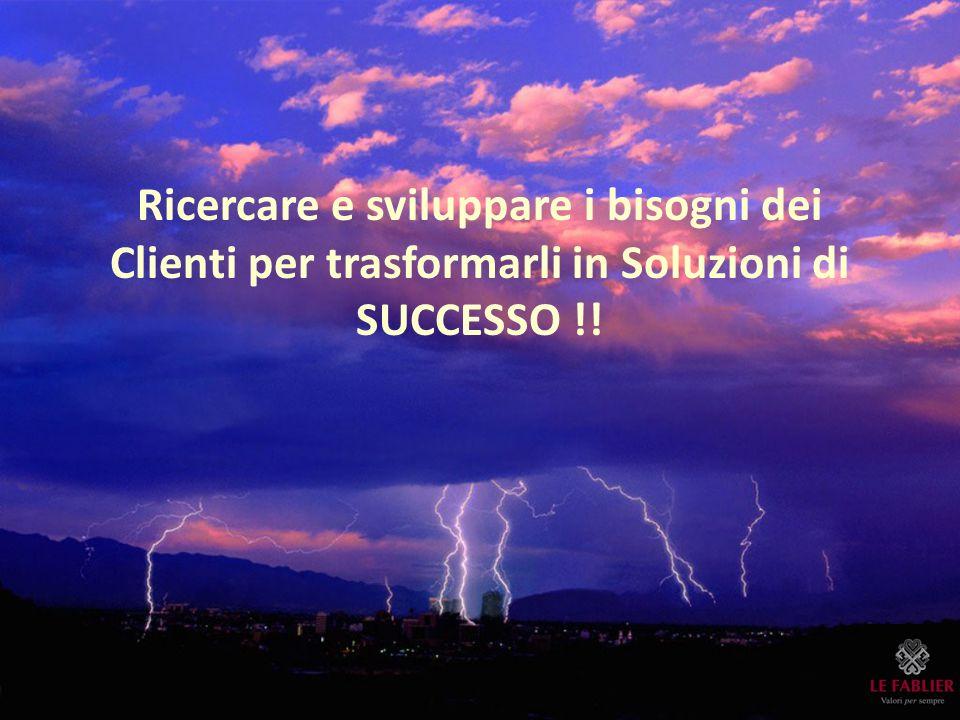 Ricercare e sviluppare i bisogni dei Clienti per trasformarli in Soluzioni di SUCCESSO !!