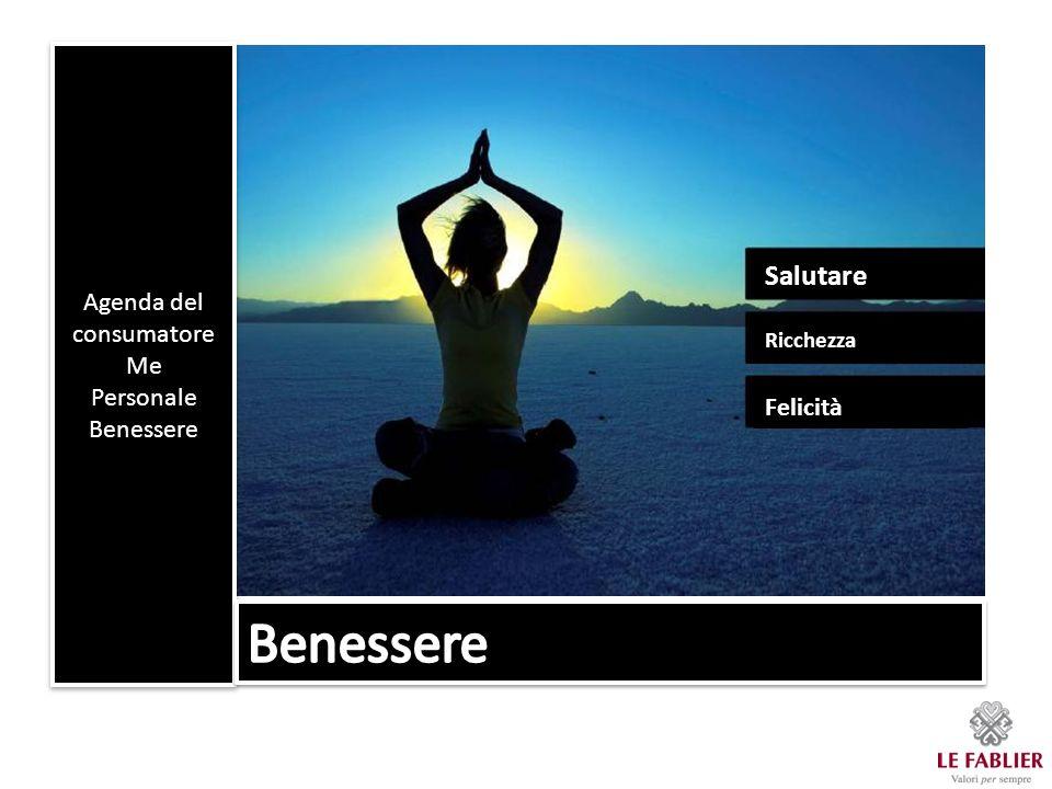 Agenda del consumatore Me Personale Benessere Agenda del consumatore Me Personale Benessere Salutare Ricchezza Felicità