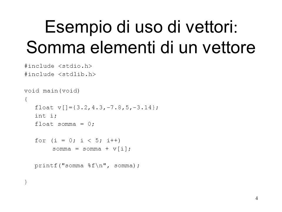 15 Esempi di passaggio parametri: Passaggio per indirizzo #include void main(void) { int a; a = 5; esempio_funz(&a); printf(%d\n, a); } void esempio_funz(int *b) { *b = *b + 1; } 5a b *b = *b + 1; 6a b Al termine della funzione b scompare Quando il controllo ritorna al main: a == 6