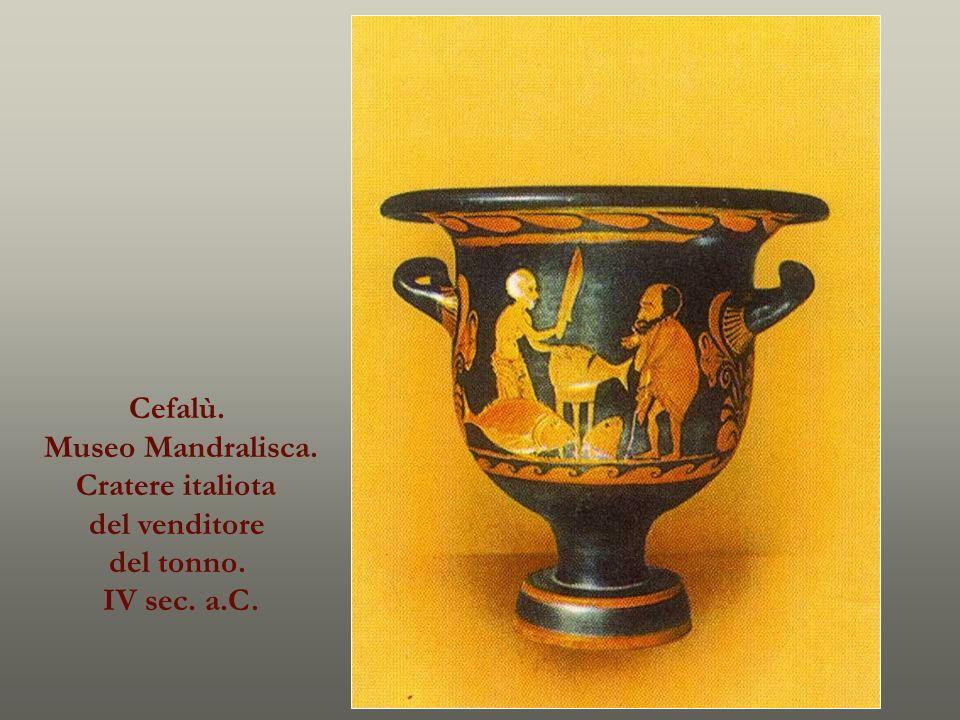 Cefalù. Museo Mandralisca. Cratere italiota del venditore del tonno. IV sec. a.C.