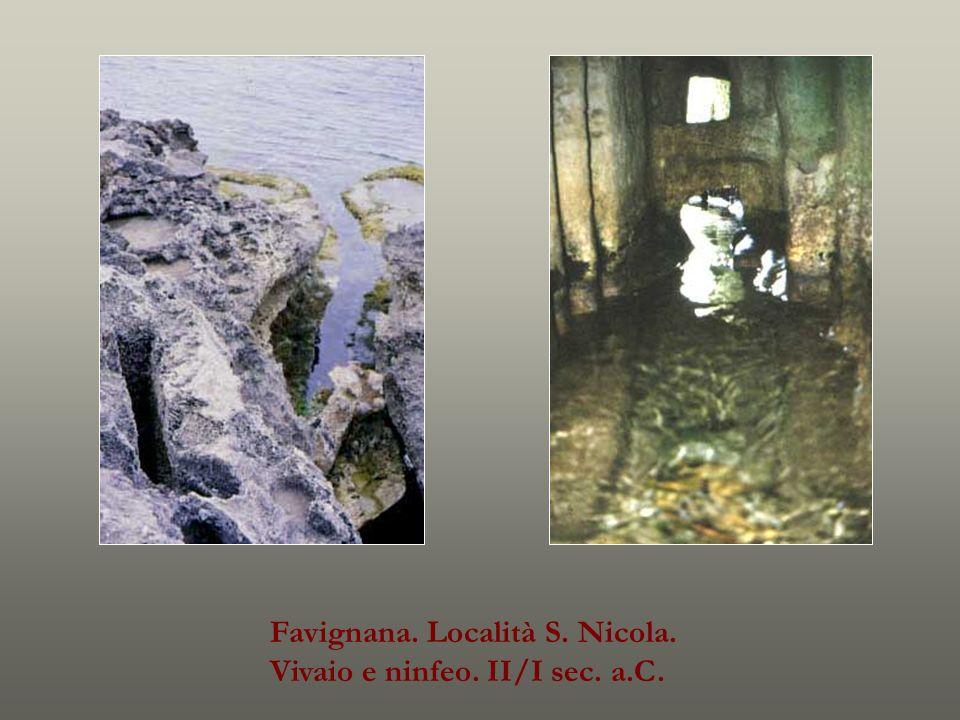 Favignana. Località S. Nicola. Vivaio e ninfeo. II/I sec. a.C.
