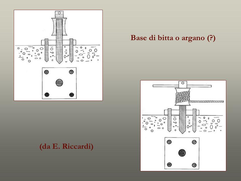 Base di bitta o argano (?) (da E. Riccardi)