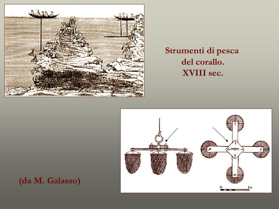 Strumenti di pesca del corallo. XVIII sec. (da M. Galasso)
