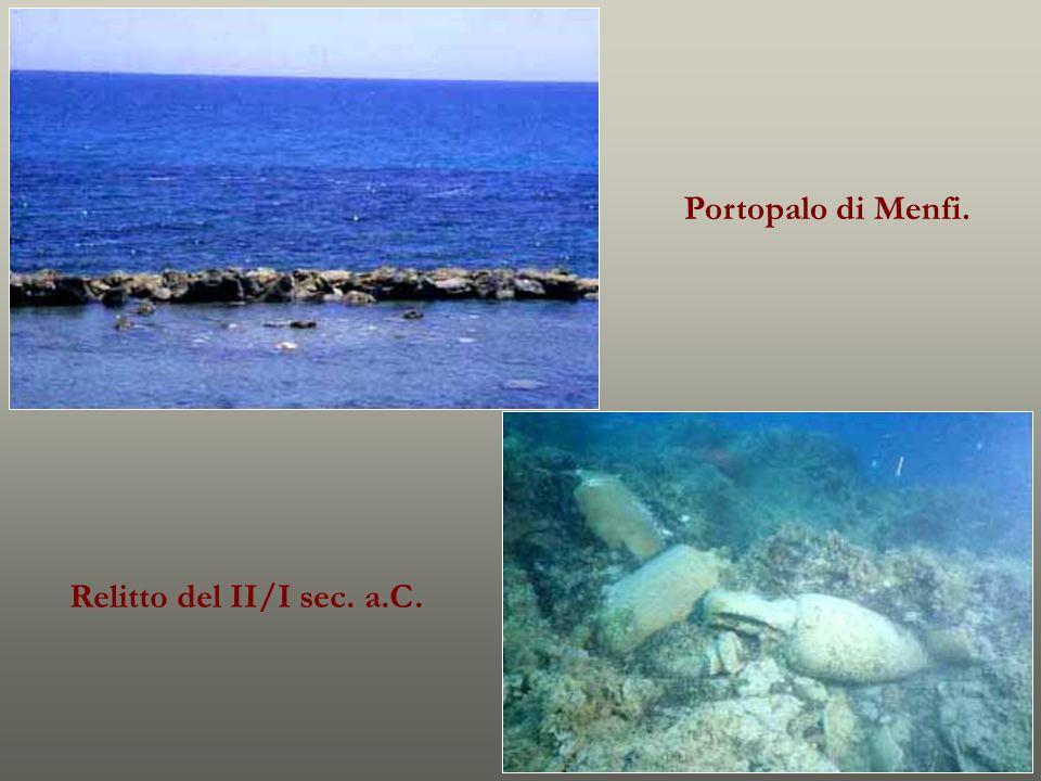Portopalo di Menfi. Relitto del II/I sec. a.C.