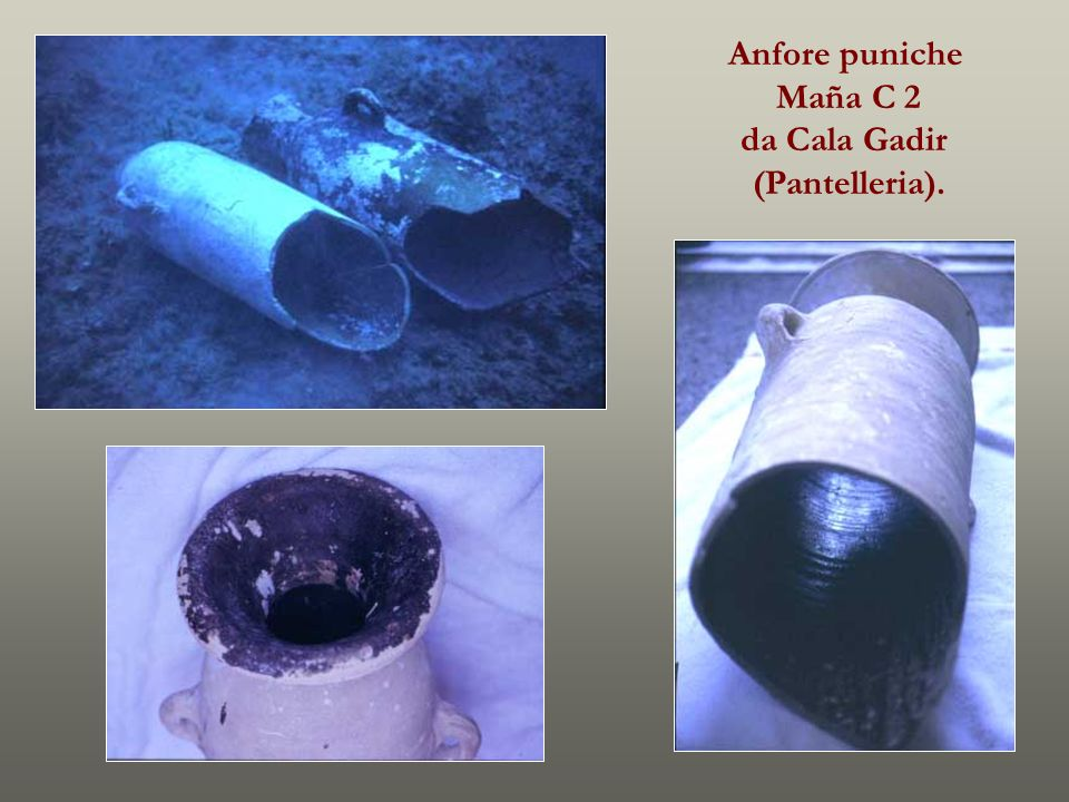 Anfore puniche Maña C 2 da Cala Gadir (Pantelleria).