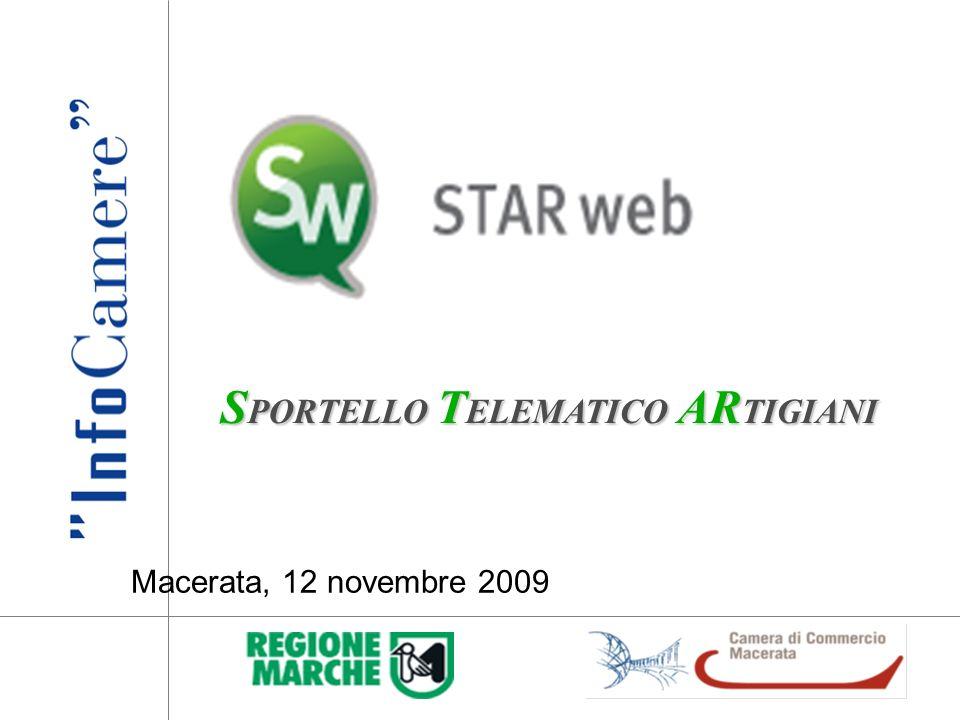 S PORTELLO T ELEMATICO AR TIGIANI Macerata, 12 novembre 2009