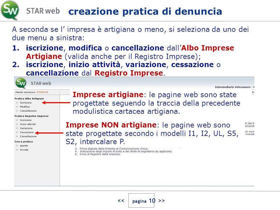 > Imprese artigiane: le pagine web sono state progettate seguendo la traccia della precedente modulistica cartacea artigiana.