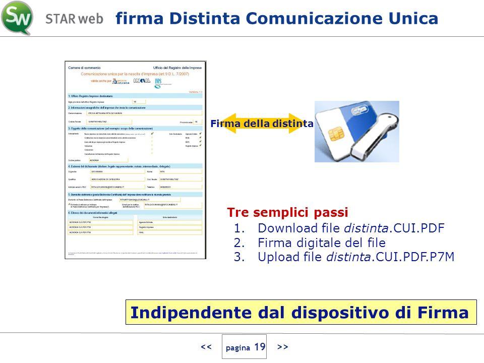 > Firma della distinta 1.Download file distinta.CUI.PDF 2.Firma digitale del file 3.Upload file distinta.CUI.PDF.P7M Tre semplici passi firma Distinta