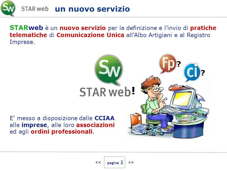 > STARweb è un nuovo servizio per la definizione e linvio di pratiche telematiche di Comunicazione Unica all Albo Artigiani e al Registro Imprese.