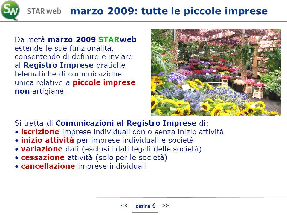 > Da metà marzo 2009 STARweb estende le sue funzionalità, consentendo di definire e inviare al Registro Imprese pratiche telematiche di comunicazione