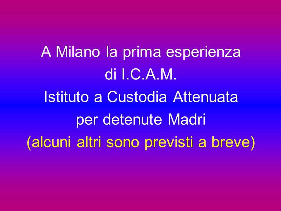 A Milano la prima esperienza di I.C.A.M.