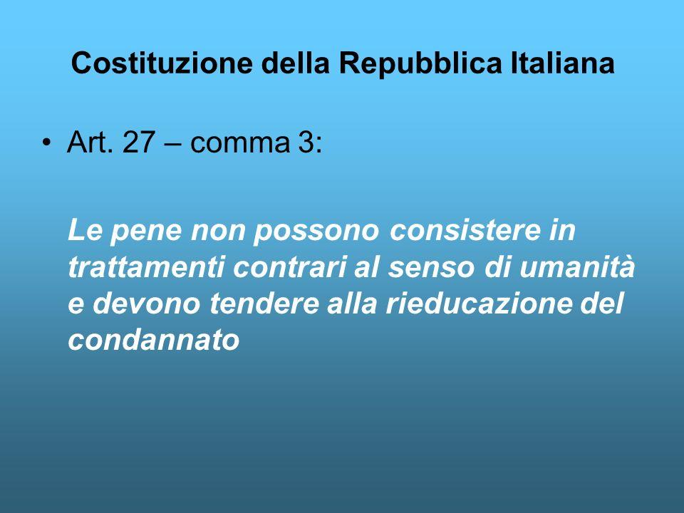 Costituzione della Repubblica Italiana Art.