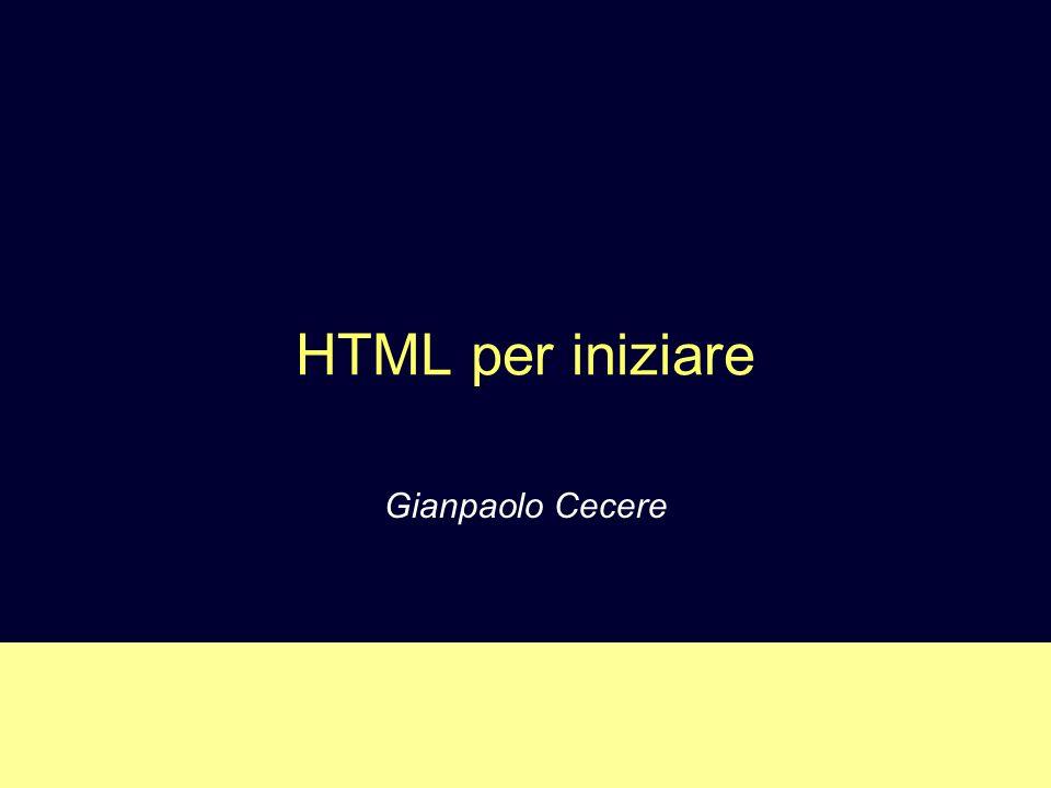 HTML per iniziare Gianpaolo Cecere