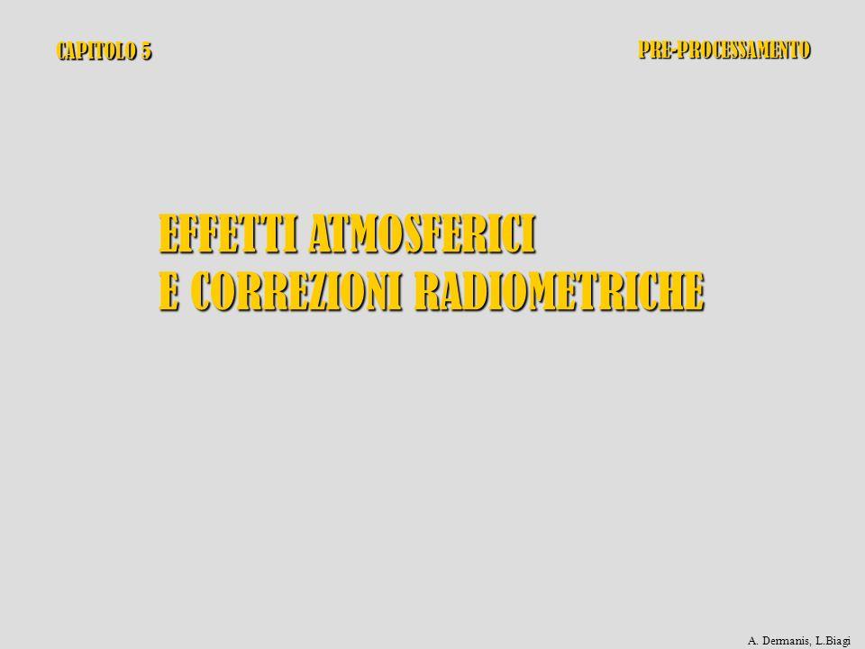 CAPITOLO 5 EFFETTI ATMOSFERICI E CORREZIONI RADIOMETRICHE PRE-PROCESSAMENTO A. Dermanis, L.Biagi