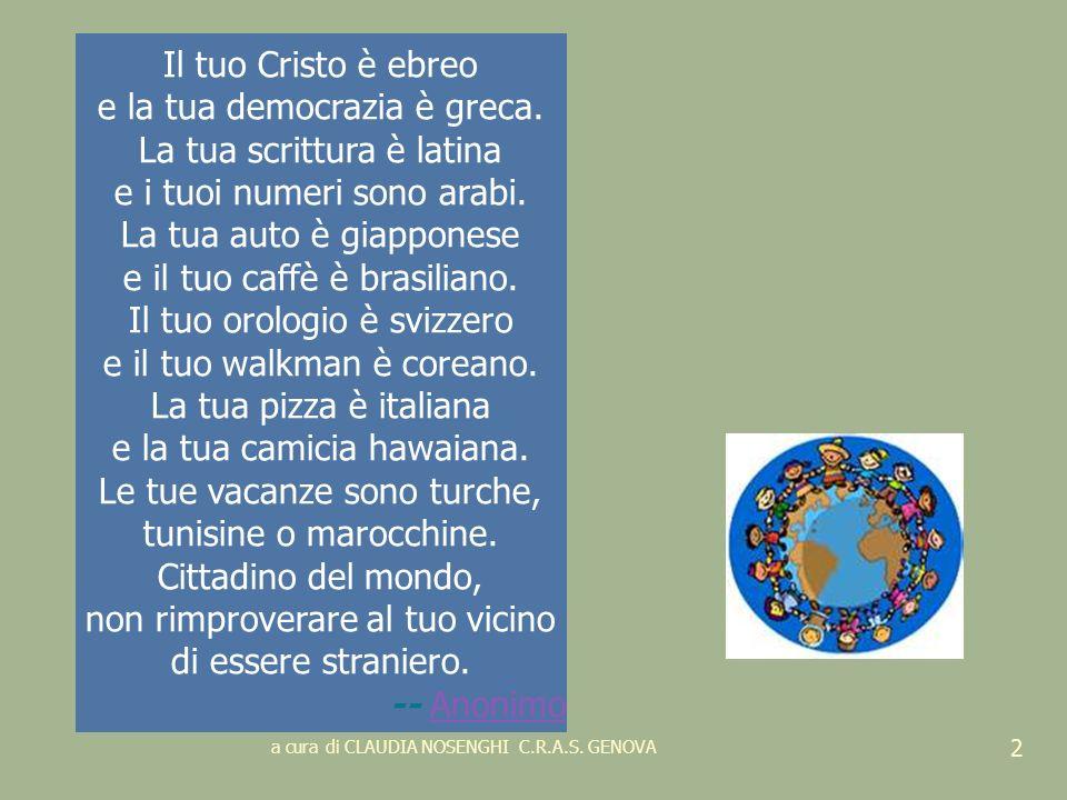 Lintegrazione è una strada in salita, mica una formula magica Dirigente scolastico di Luzzara (RE) a cura di CLAUDIA NOSENGHI C.R.A.S.