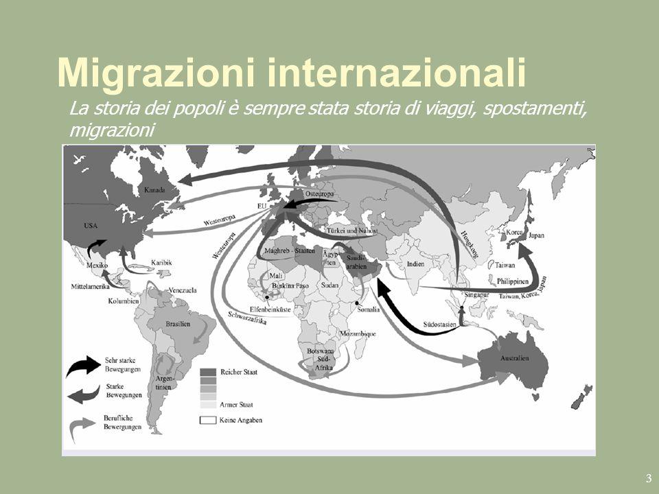 Migrazioni internazionali 3 La storia dei popoli è sempre stata storia di viaggi, spostamenti, migrazioni