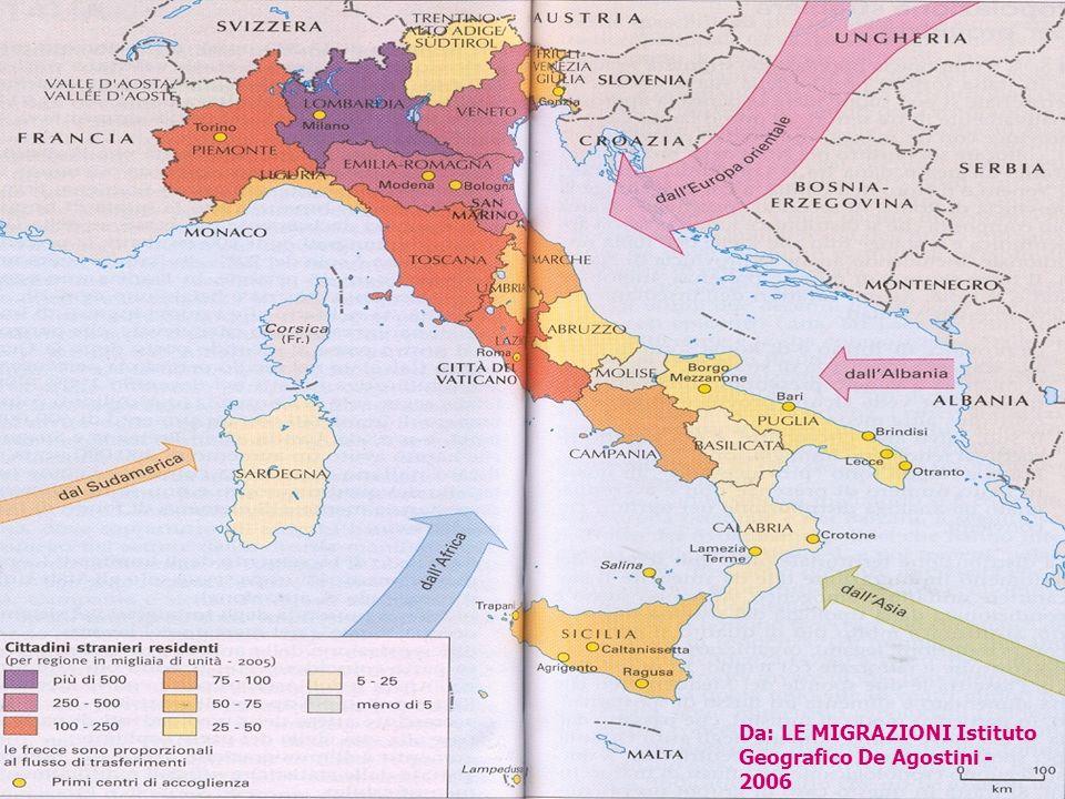 a cura di CLAUDIA NOSENGHI C.R.A.S. GENOVA4 Da: LE MIGRAZIONI Istituto Geografico De Agostini - 2006