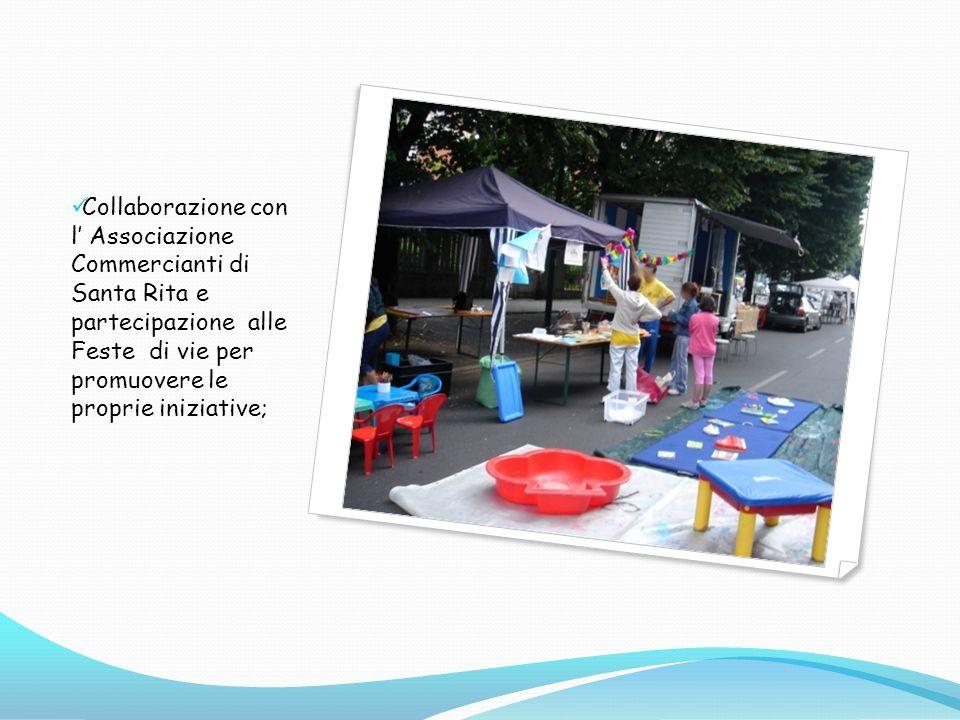 Collaborazione con l Associazione Commercianti di Santa Rita e partecipazione alle Feste di vie per promuovere le proprie iniziative;