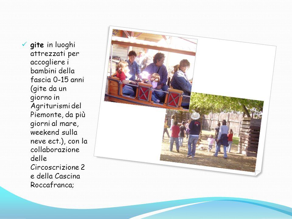 gite in luoghi attrezzati per accogliere i bambini della fascia 0-15 anni (gite da un giorno in Agriturismi del Piemonte, da più giorni al mare, weeke