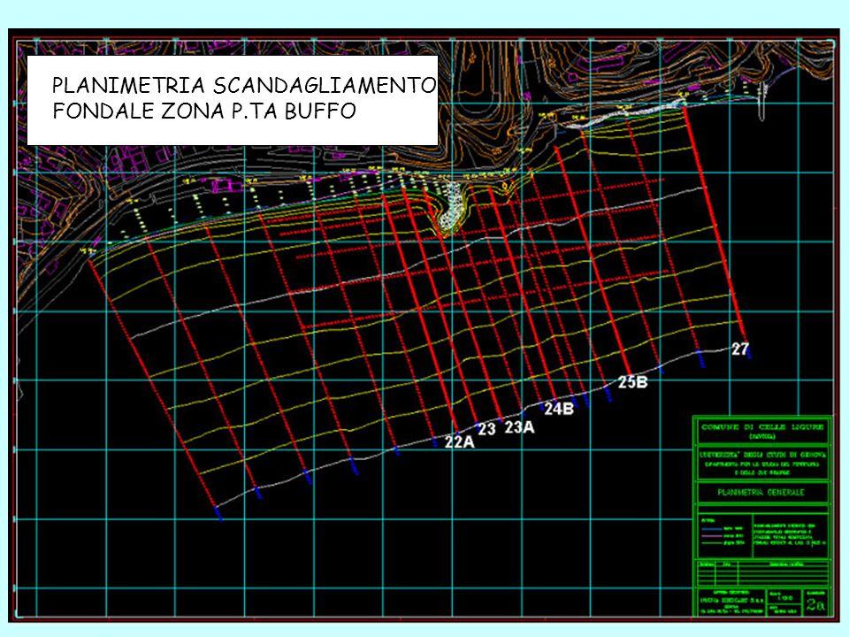 PLANIMETRIA SCANDAGLIAMENTO FONDALE ZONA P.TA BUFFO