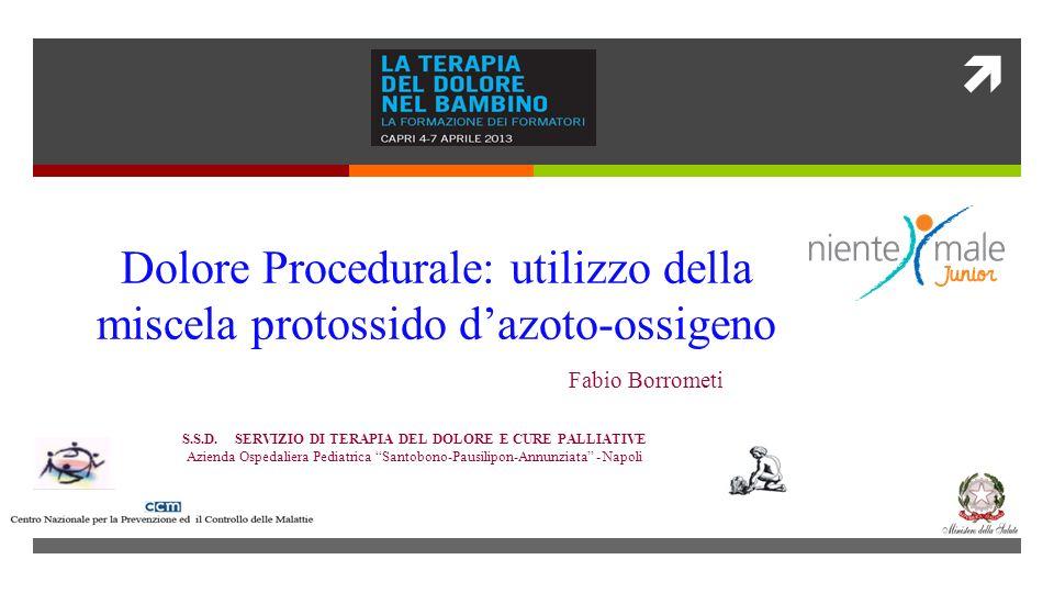 Fabio Borrometi S.S.D. SERVIZIO DI TERAPIA DEL DOLORE E CURE PALLIATIVE Azienda Ospedaliera Pediatrica Santobono-Pausilipon-Annunziata - Napoli Dolore