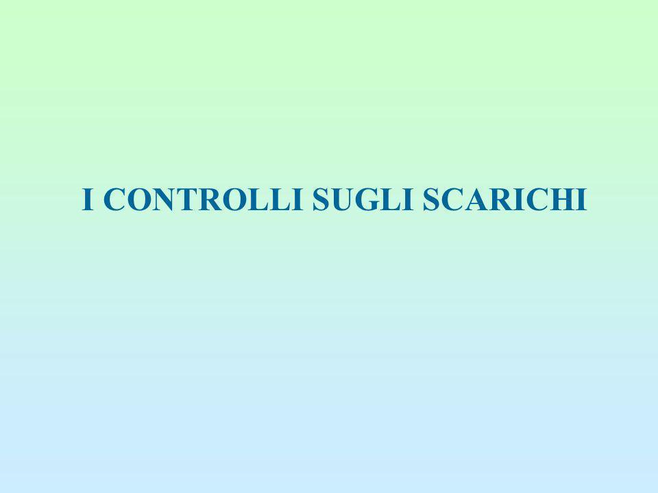 I CONTROLLI SUGLI SCARICHI