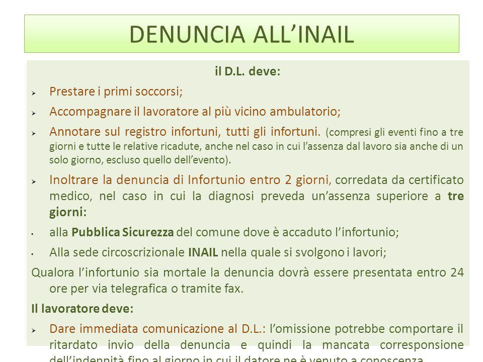 DENUNCIA ALLINAIL il D.L.