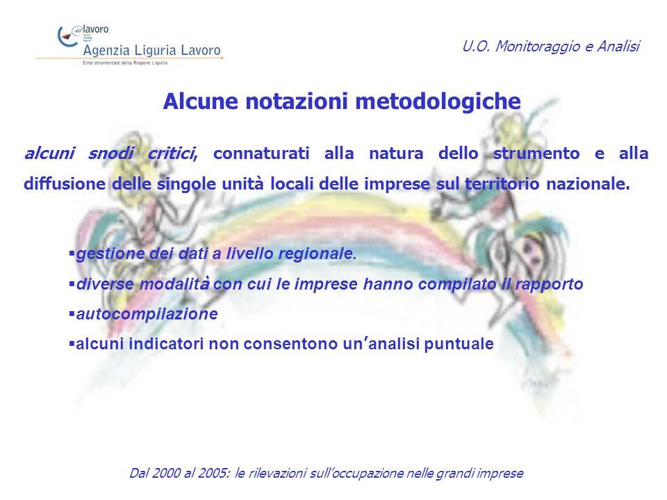 Alcune notazioni metodologiche alcuni snodi critici, connaturati alla natura dello strumento e alla diffusione delle singole unità locali delle imprese sul territorio nazionale.
