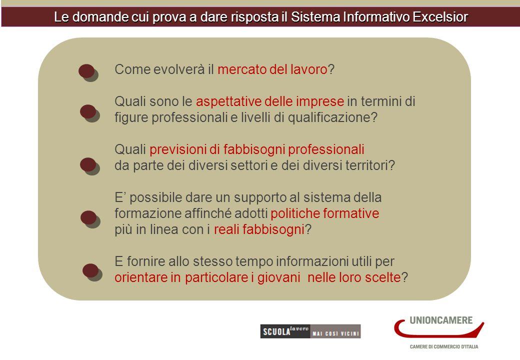 Le domande cui prova a dare risposta il Sistema Informativo Excelsior Come evolverà il mercato del lavoro.