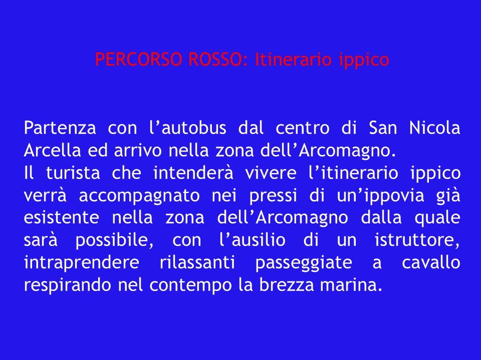 Partenza con lautobus dal centro di San Nicola Arcella ed arrivo nella zona dellArcomagno.