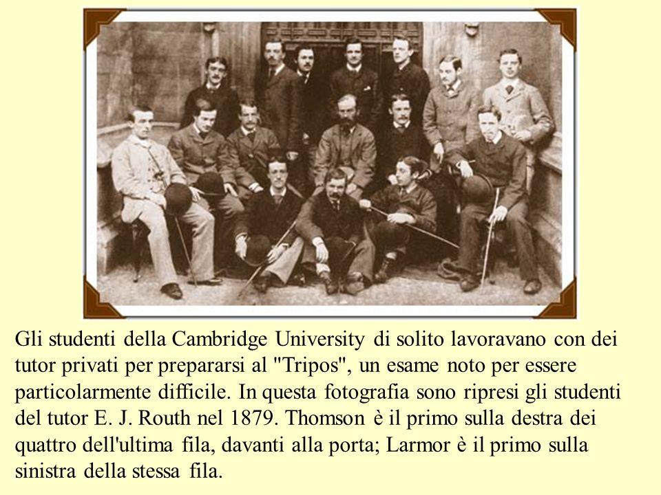 Gli studenti della Cambridge University di solito lavoravano con dei tutor privati per prepararsi al