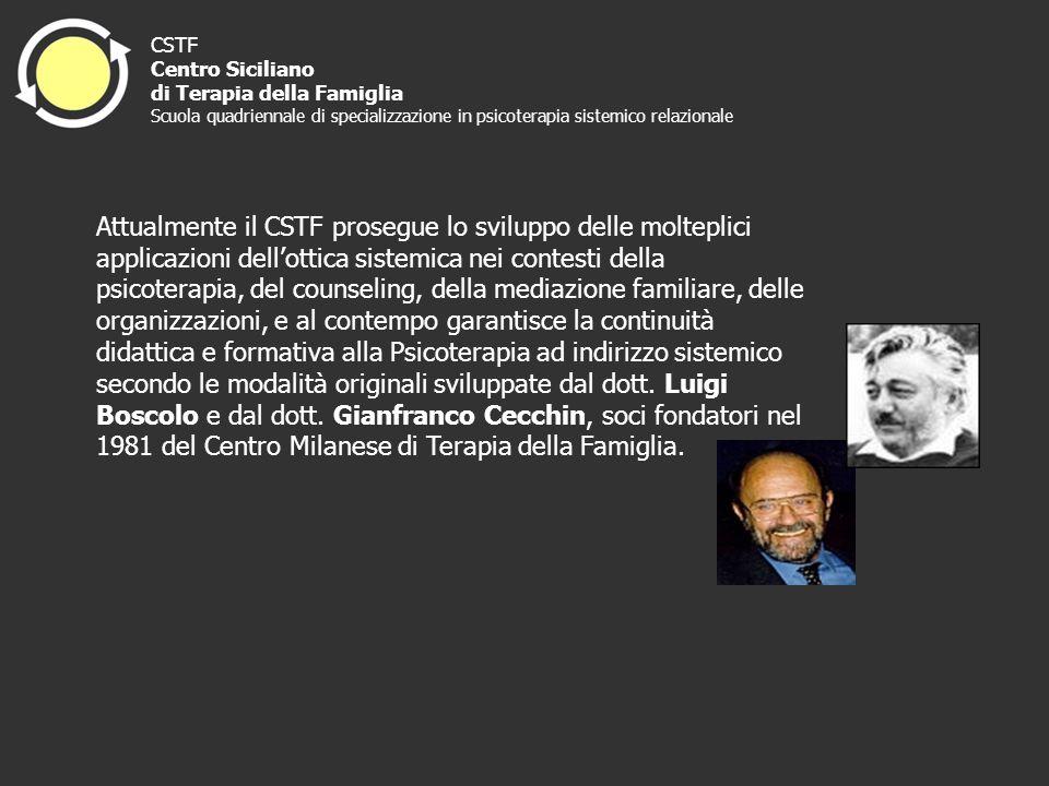 Attualmente il CSTF prosegue lo sviluppo delle molteplici applicazioni dellottica sistemica nei contesti della psicoterapia, del counseling, della med