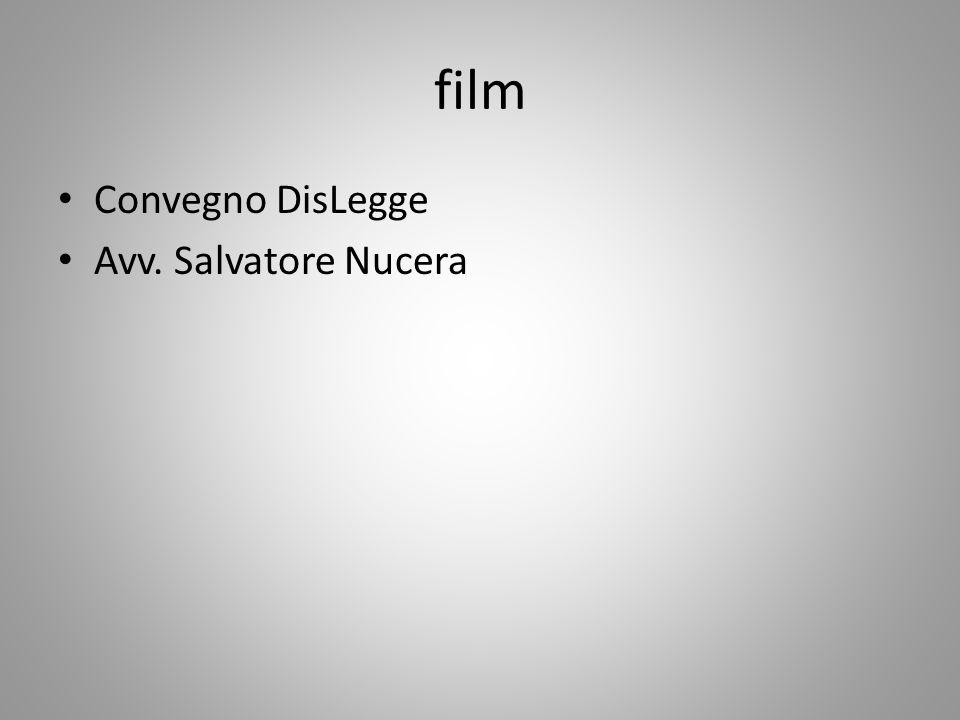 film Convegno DisLegge Avv. Salvatore Nucera