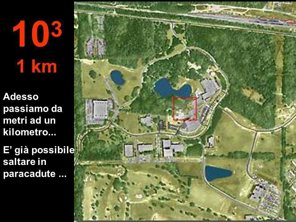 Adesso passiamo da metri ad un kilometro... E già possibile saltare in paracadute... 10 3 1 km